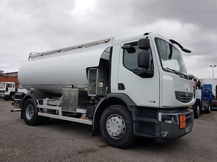Trucks Renault Premium Fuel tank body 310dxi.19 - 13500 litres BLANC - 3