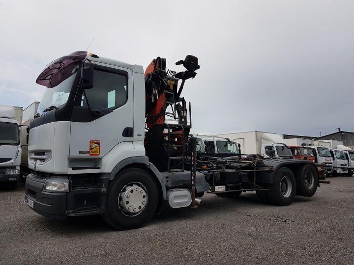 Trucks Renault Premium Hookloader Ampliroll body + crane 420dci.26 6x2 J - GUIMA S20 + PK12000 BLANC - 1