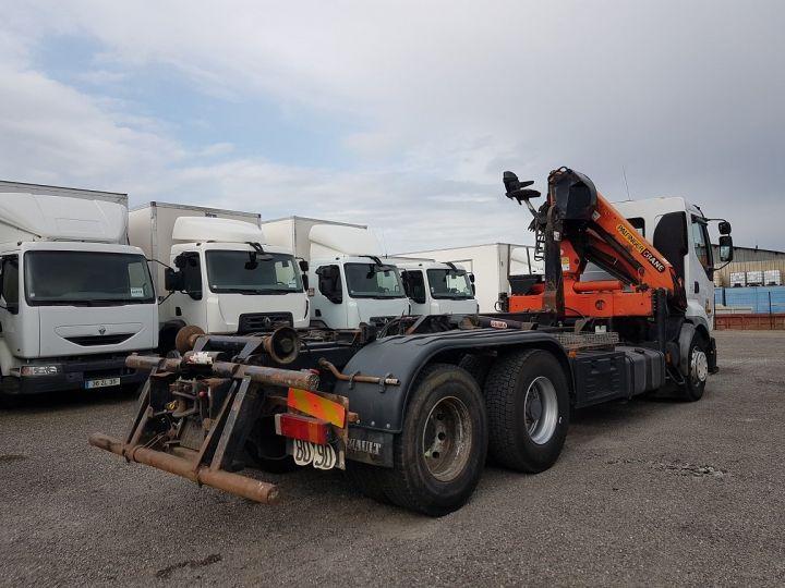 Trucks Renault Premium Hookloader Ampliroll body + crane 420dci.26 6x2 J - GUIMA S20 + PK12000 BLANC - 2