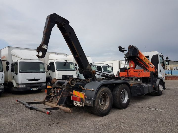 Trucks Renault Premium Hookloader Ampliroll body + crane 420dci.26 6x2 J - GUIMA S20 + PK12000 BLANC - 3