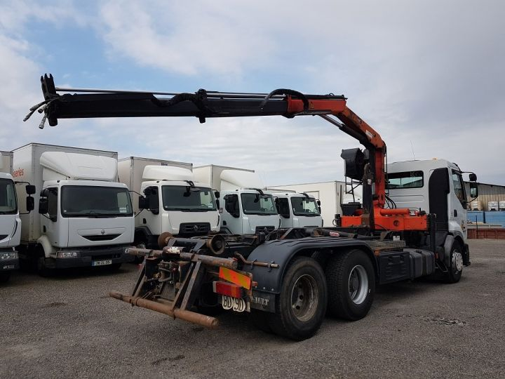 Trucks Renault Premium Hookloader Ampliroll body + crane 420dci.26 6x2 J - GUIMA S20 + PK12000 BLANC - 4