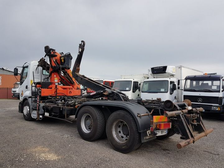 Trucks Renault Premium Hookloader Ampliroll body + crane 420dci.26 6x2 J - GUIMA S20 + PK12000 BLANC - 6