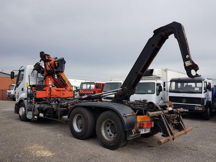Trucks Renault Premium Hookloader Ampliroll body + crane 420dci.26 6x2 J - GUIMA S20 + PK12000 BLANC - 7