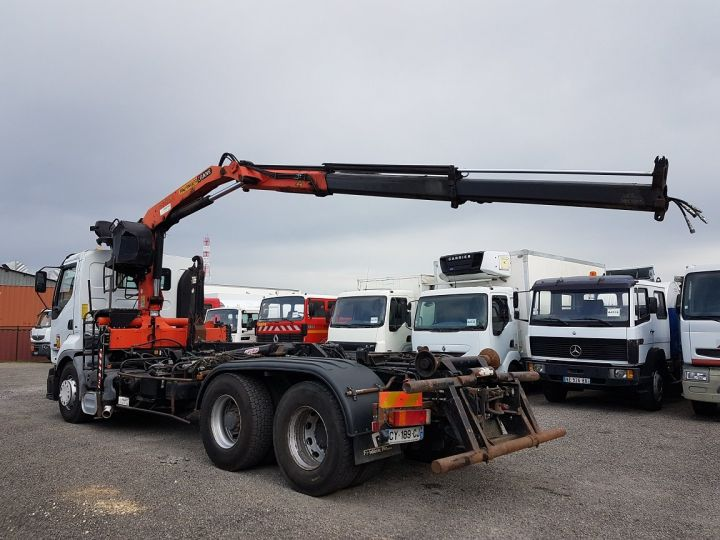 Trucks Renault Premium Hookloader Ampliroll body + crane 420dci.26 6x2 J - GUIMA S20 + PK12000 BLANC - 8