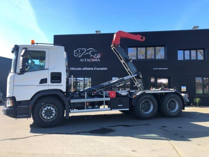 Trucks Scania G Hookloader Ampliroll body 410 BLANC - 2
