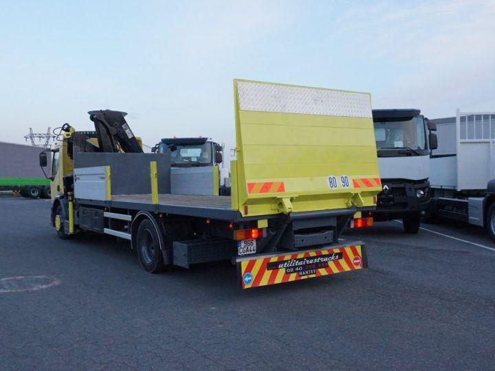 Trucks Renault Platform body + crane Jaune - 4