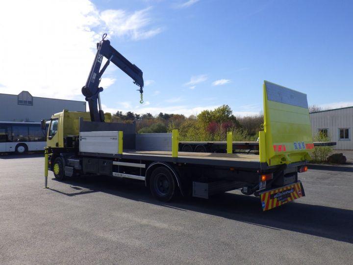 Trucks Renault Platform body + crane Jaune - 8
