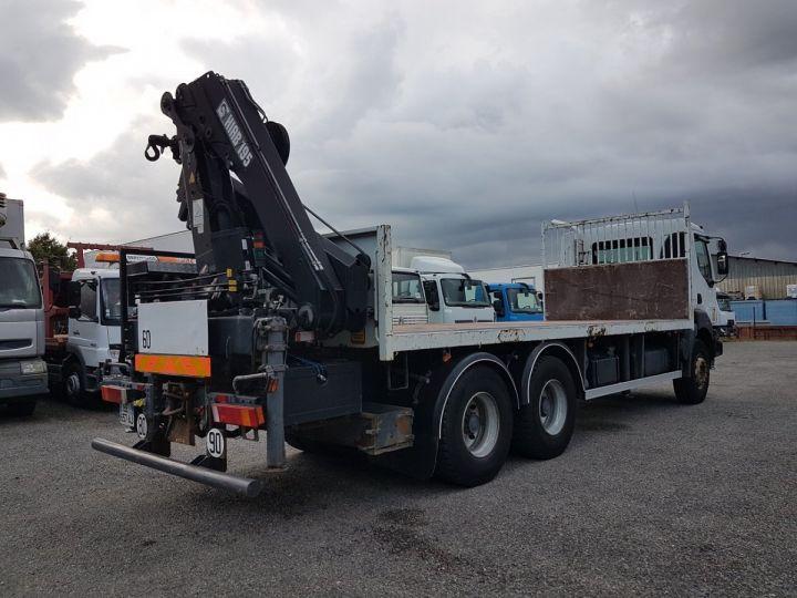 Trucks Renault Kerax Platform body + crane 370dci.26 6x4 + HIAB 195.3 BLANC - 2