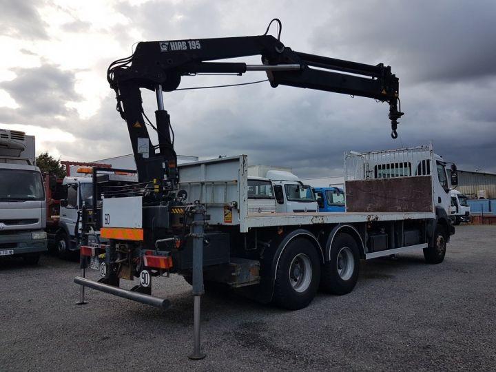 Trucks Renault Kerax Platform body + crane 370dci.26 6x4 + HIAB 195.3 BLANC - 3