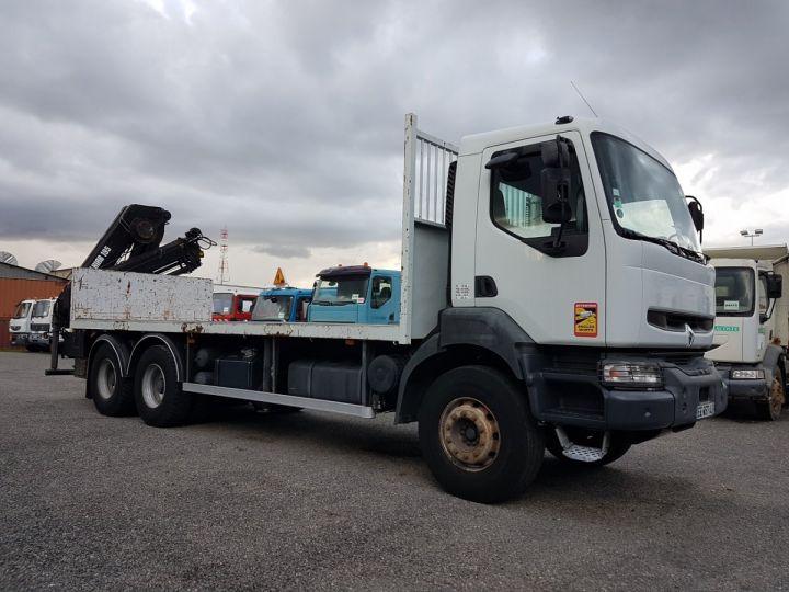 Trucks Renault Kerax Platform body + crane 370dci.26 6x4 + HIAB 195.3 BLANC - 4