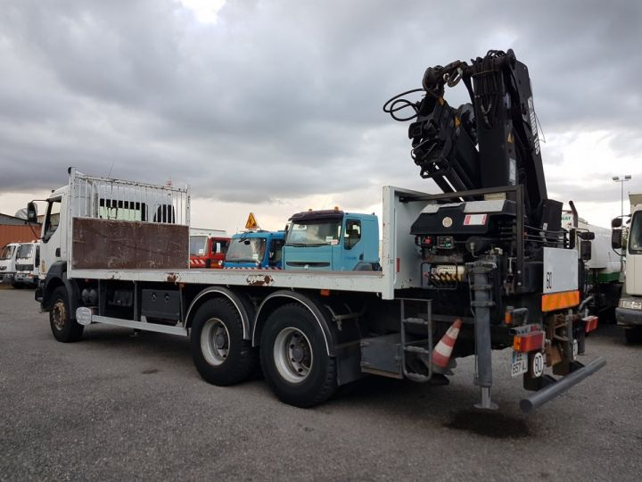 Trucks Renault Kerax Platform body + crane 370dci.26 6x4 + HIAB 195.3 BLANC - 5