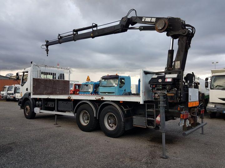 Trucks Renault Kerax Platform body + crane 370dci.26 6x4 + HIAB 195.3 BLANC - 6