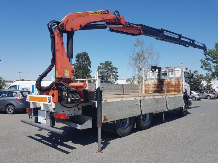 Trucks Scania P Platform body + crane 340 CB 6x4 + PALFINGER PK18500 BLANC - 3