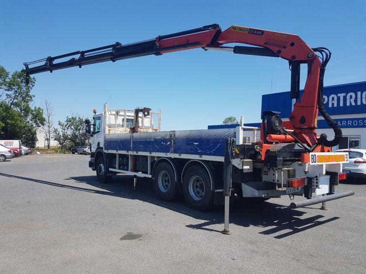 Trucks Scania P Platform body + crane 340 CB 6x4 + PALFINGER PK18500 BLANC - 6