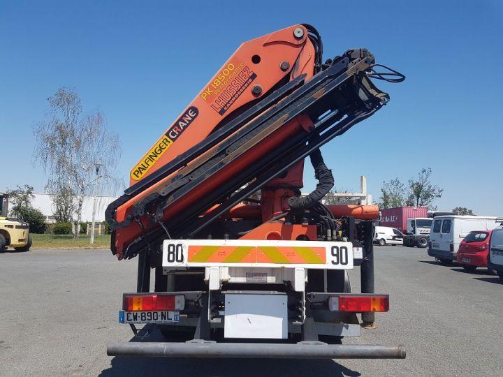 Trucks Scania P Platform body + crane 340 CB 6x4 + PALFINGER PK18500 BLANC - 7