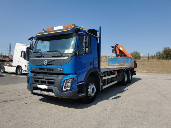 Trucks Volvo FMX Platform body + crane FMX 13L 500 6X4 EURO 6 BLEU - 1