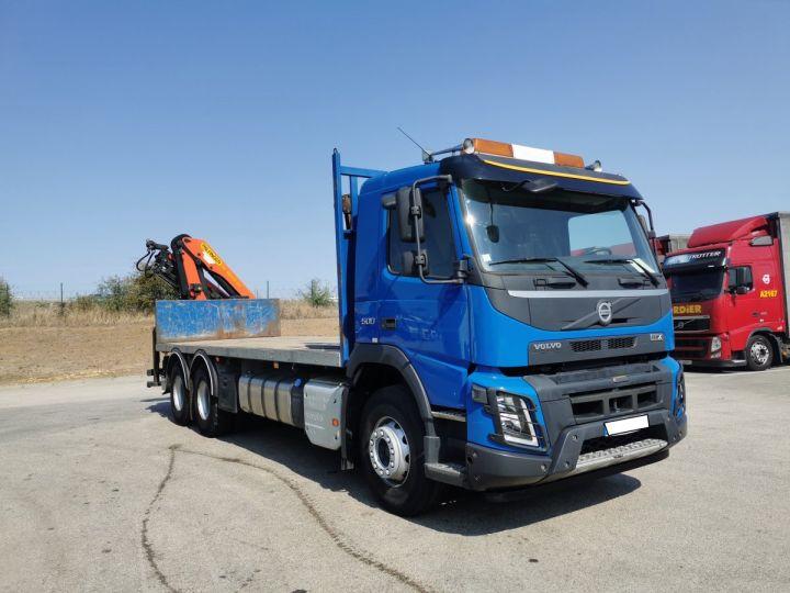 Trucks Volvo FMX Platform body + crane FMX 13L 500 6X4 EURO 6 BLEU - 2
