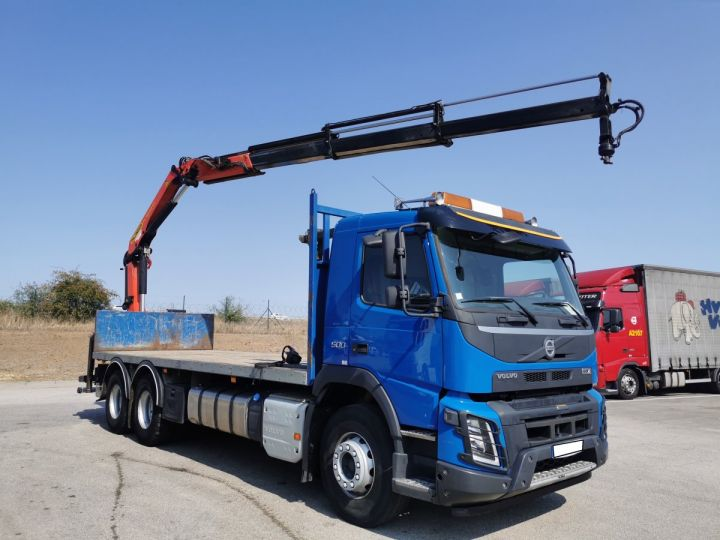 Trucks Volvo FMX Platform body + crane FMX 13L 500 6X4 EURO 6 BLEU - 6