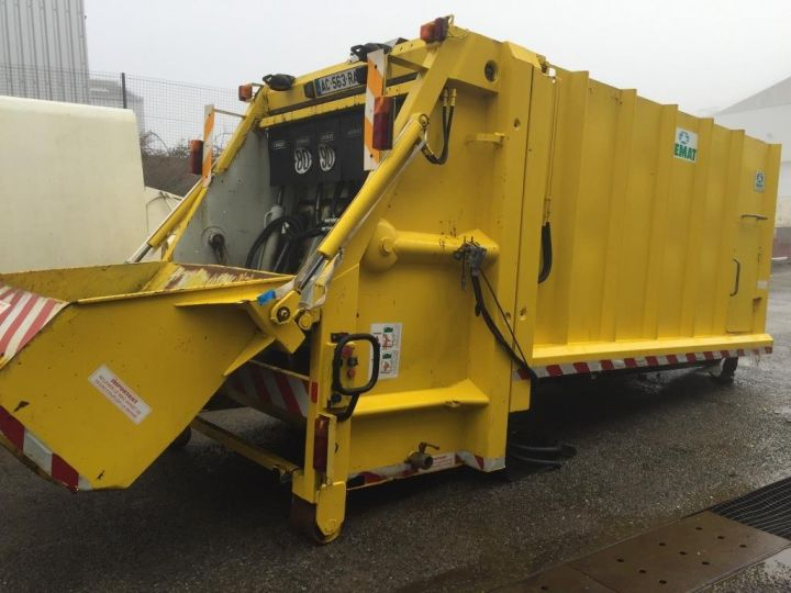Trucks Spitzer Refuse collector body CAISSON BENNE A ORDURES MENAGERES SEMAT JAUNE - 1