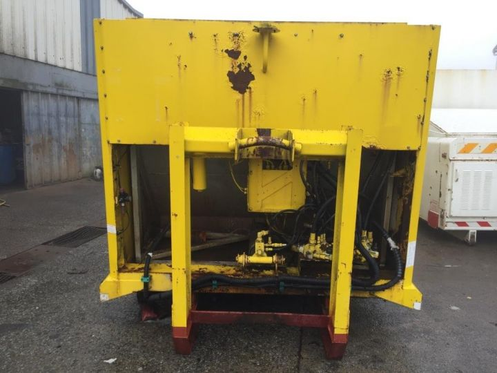 Trucks Spitzer Refuse collector body CAISSON BENNE A ORDURES MENAGERES SEMAT JAUNE - 4