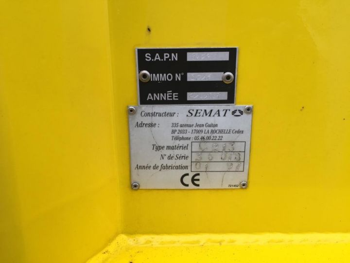 Trucks Spitzer Refuse collector body CAISSON BENNE A ORDURES MENAGERES SEMAT JAUNE - 6
