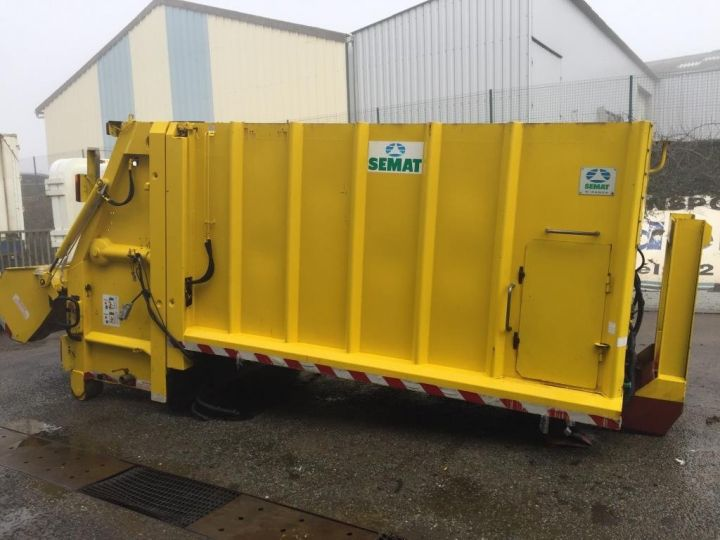 Trucks Spitzer Refuse collector body CAISSON BENNE A ORDURES MENAGERES SEMAT JAUNE - 10