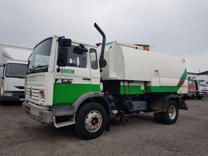 Trucks Renault Midliner Roadsweeper machine M160.11 SEMAT A500 - Sans carte grise BLANC - VERT - 1