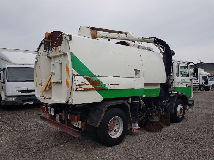 Trucks Renault Midliner Roadsweeper machine M160.11 SEMAT A500 - Sans carte grise BLANC - VERT - 2
