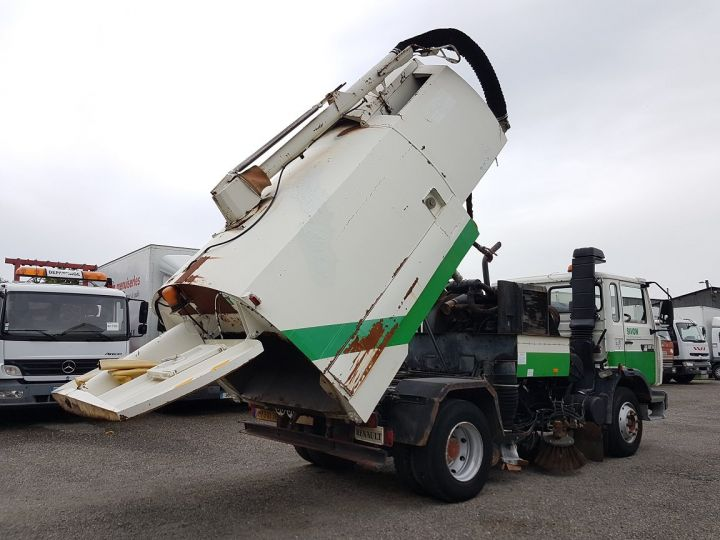Trucks Renault Midliner Roadsweeper machine M160.11 SEMAT A500 - Sans carte grise BLANC - VERT - 3