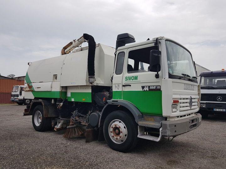 Trucks Renault Midliner Roadsweeper machine M160.11 SEMAT A500 - Sans carte grise BLANC - VERT - 4