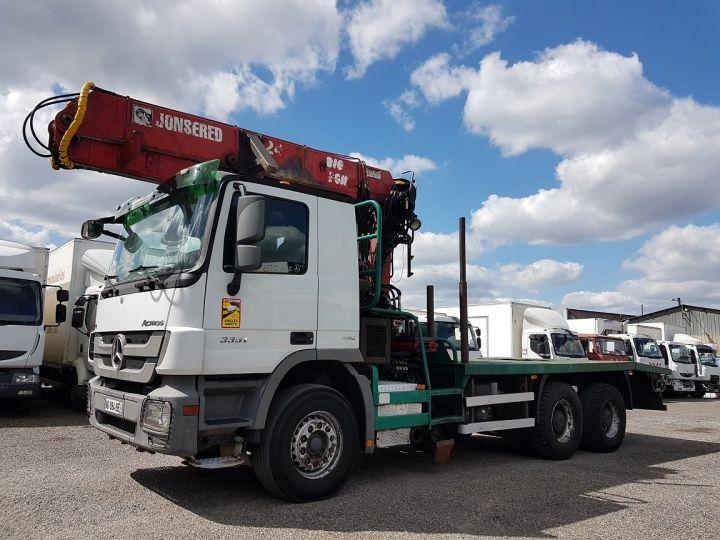 Trucks Mercedes Actros Timber truck body 3351 KN 6x4 V8 + JONSERED 2490 BLANC - VERT - 1