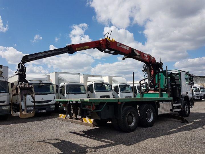 Trucks Mercedes Actros Timber truck body 3351 KN 6x4 V8 + JONSERED 2490 BLANC - VERT - 3