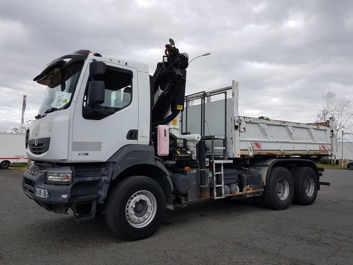 Trucks Renault Kerax Tipper body + crane 370dxi.26 6x4 BI-BENNE + PK 20002 B BLANC - 1