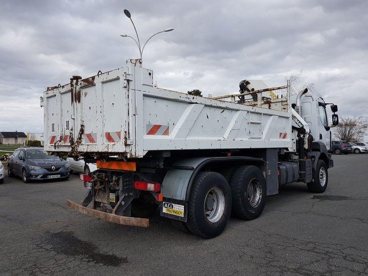 Trucks Renault Kerax Tipper body + crane 370dxi.26 6x4 BI-BENNE + PK 20002 B BLANC - 2
