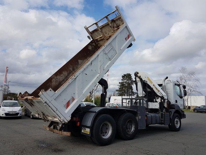 Trucks Renault Kerax Tipper body + crane 370dxi.26 6x4 BI-BENNE + PK 20002 B BLANC - 3