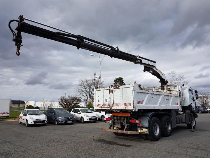 Trucks Renault Kerax Tipper body + crane 370dxi.26 6x4 BI-BENNE + PK 20002 B BLANC - 4
