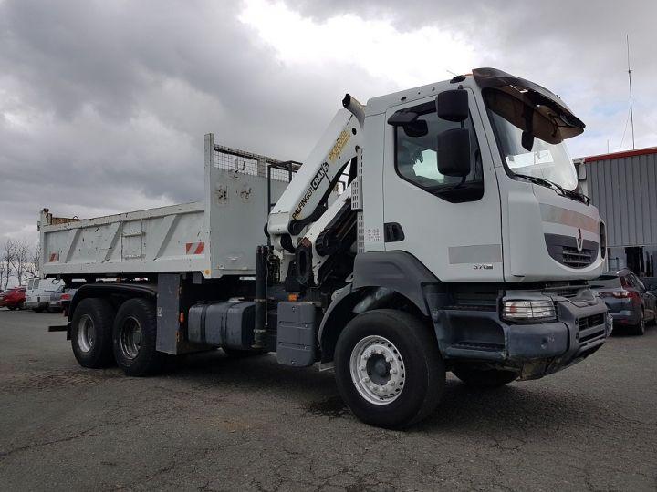 Trucks Renault Kerax Tipper body + crane 370dxi.26 6x4 BI-BENNE + PK 20002 B BLANC - 5