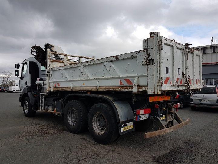 Trucks Renault Kerax Tipper body + crane 370dxi.26 6x4 BI-BENNE + PK 20002 B BLANC - 6