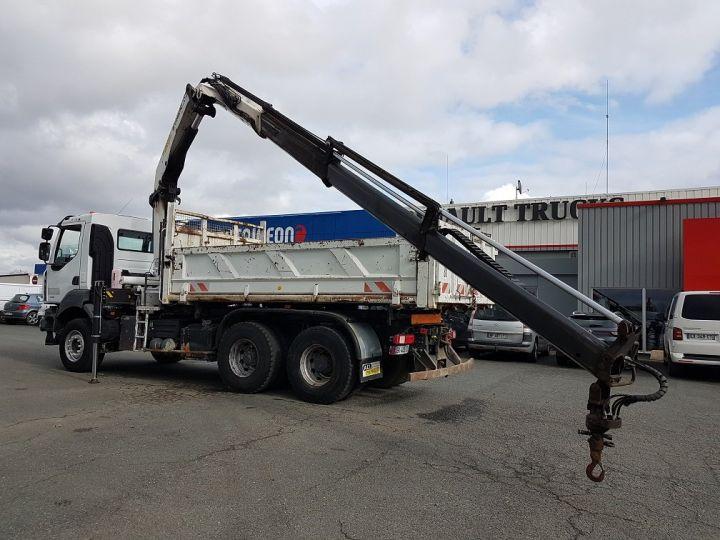 Trucks Renault Kerax Tipper body + crane 370dxi.26 6x4 BI-BENNE + PK 20002 B BLANC - 8