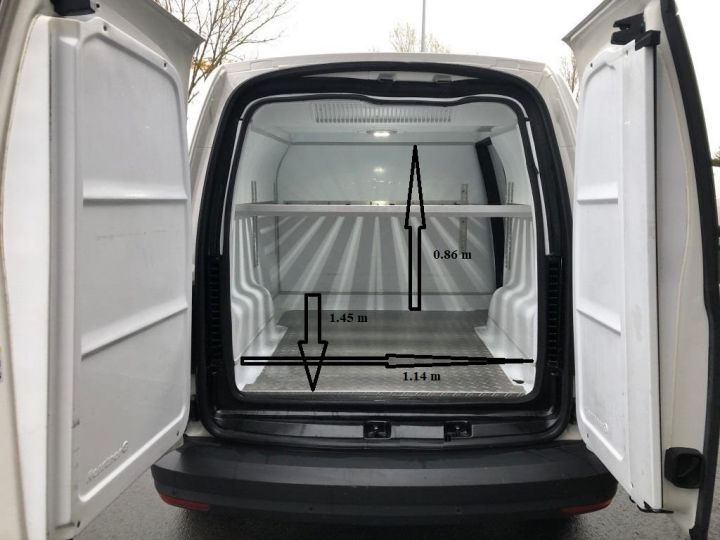 Utilitaire léger Volkswagen Caddy Caisse isotherme BLANC - 9