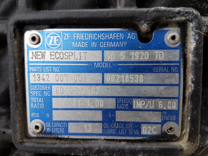 Utilitaires divers Autre Boite de vitesse ZF 16S 1920 TD GRIS Occasion - 5