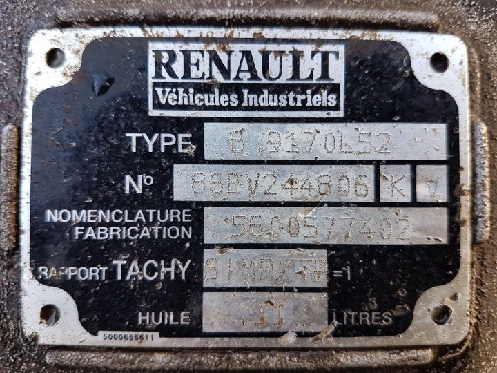 Utilitaires divers Boite de vitesse RVI B9 170 GRIS - ROUGE Occasion - 7