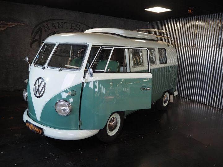 Volkswagen Combi Volkswagen combi T1 split vert et blanc - 1
