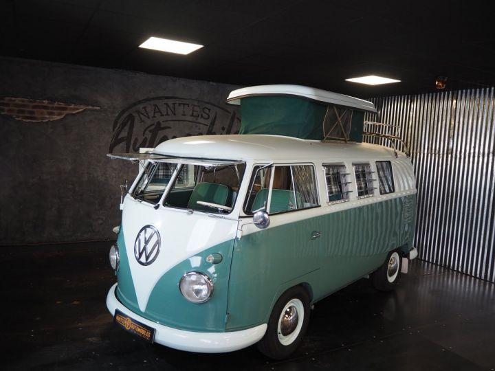 Volkswagen Combi Volkswagen combi T1 split vert et blanc - 10