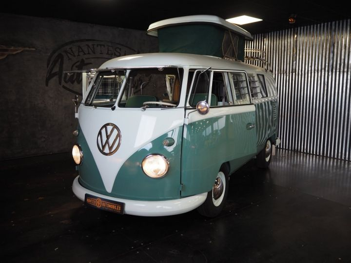 Volkswagen Combi Volkswagen combi T1 split vert et blanc - 11