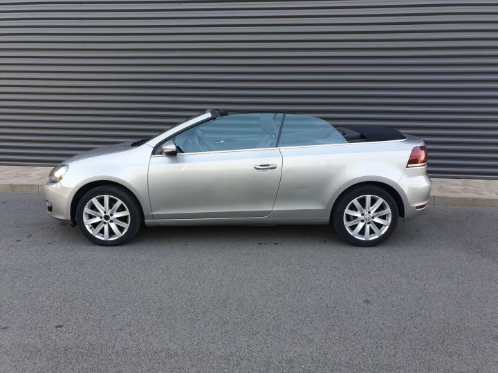 Volkswagen Golf 6 vi cabriolet 1.6 tdi 105 carat b Gris Occasion - 3