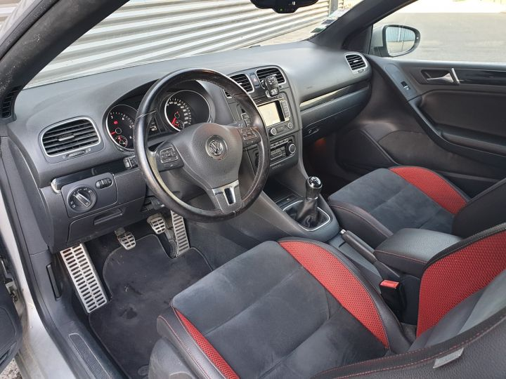 Volkswagen Golf 6 vi cabriolet 1.6 tdi 105 carat c Gris Occasion - 8