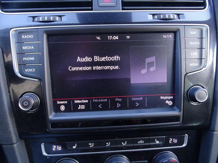 Volkswagen Golf 7 2.0 TSI 220 BLUEMOTION TECHNOLOGY GTI 3P/ FULL Options noir metallisé - 17