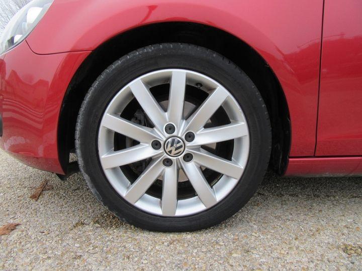 Volkswagen Golf VI CABRIOLET 1.2 TSI 105CH CARAT BLUEMOTION TECHNOLOGY Rouge Occasion - 19