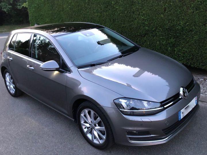 Volkswagen Golf VII 1.4 TSI 150 BLUEMOTION TECHNOLOGY CARAT EDITION DSG7 Full option +cuir + toit pano Gris Tungsten Métallisé Occasion - 1